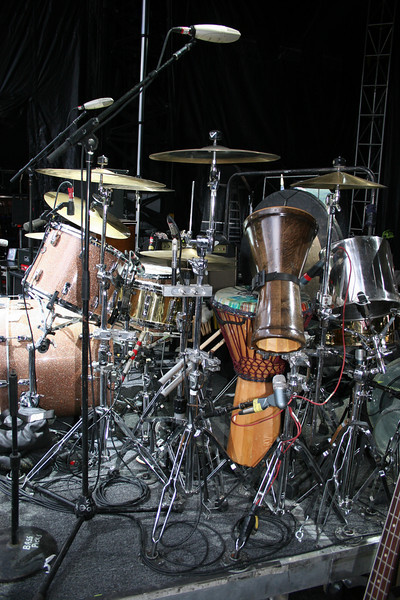 drum set side view