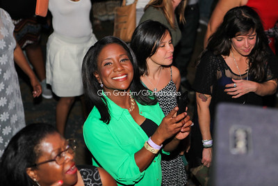 WSOC-TV  News Anchor Erica Bryant taking in Shaggy's performance at the Neighborhood Theater.