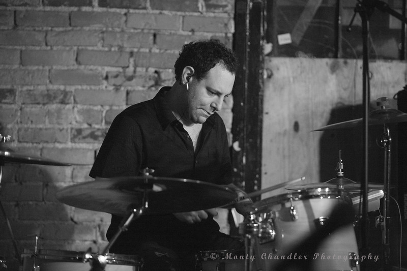 Seth Masarsky on drums for Breaking Laces performing at The Evening Muse in Charlotte, NC Nov 12th 2009