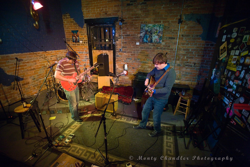 CT Stephenson & Grant Funderbunk of Raised By Wolves performing at The Evening Muse Dec 9th 2009