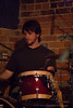 Jonathan McAdow, drummer for the Sam Thacker Band, performing at The Evening Muse January 8th 2009