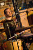 Nathan Lathouse on drums for Sun Domnigo performing at the Evening Muse Dec 9th 2009