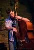 Evan Lewis of The Speedbumps on the upright bass at The Evening Muse May 22 2009