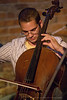 Sam Kristoff on Cello for The Speedbumps performing at The Evening Muse May 22 2009