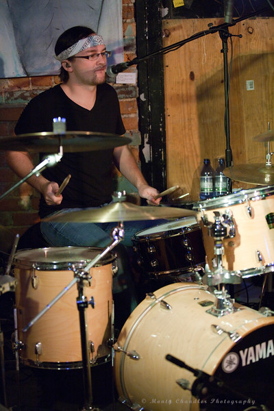 Taylor Woodruff on drums for Last November at the Evening Muse, Aug 28th, 2010