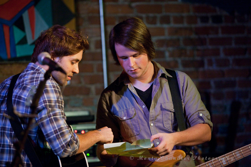 Luke & Tyler going over the set list for the show..