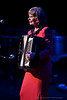 """Lorna Anderson performing """"Penny Lane"""" on her accordian at the TMP Beatles Tribute Night in Charlotte's Knight Theatre - June 5th, 2010"""