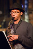 Ashanti Mills on Sax at the June 2010 Tosco House Party @ the Evening Muse in Charlotte, NC