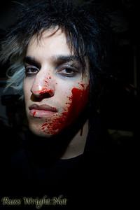 Jay Ericson of Limnus before Bloodchains video shoot
