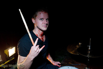 Scott Van Oudenaren of Limnus before Bloodchains video shoot
