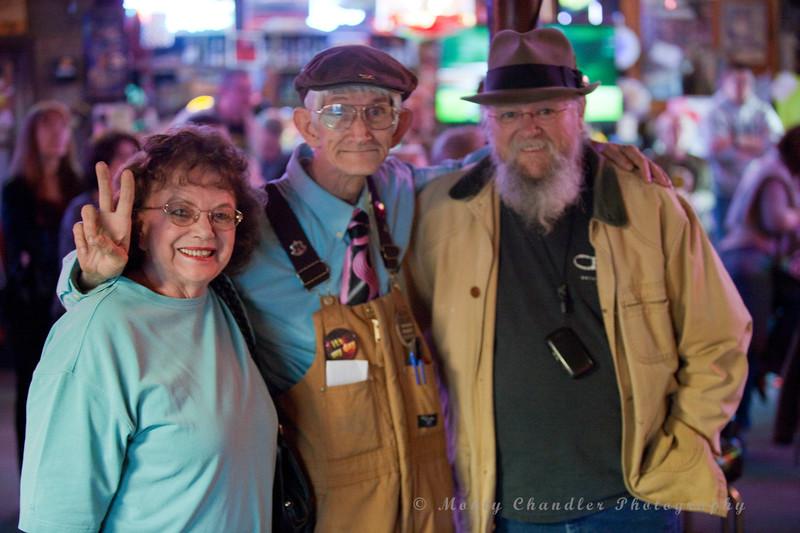 Julia Dixon, Funky Geezer & Danny Hargis at the CMA Americana-Bluegrass Showcase held at Pucketts Farm Equipment in Charlotte, NC April 12th