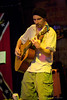 Brandon Burleson (BrandoLandoCommando) performing at the Charlotte Music Awards Folk Showcase held at Pucketts Farm Equipment in Charlotte, NC Sept 22, 2012