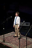 Eleven year old vocalist, Andrew James Dale, opens the Tosco Music Party Jan 28th, 2012 at the Halton Theatre on the CPCC central campus.