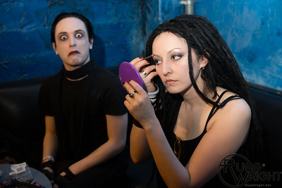 Leslie Saint (Vile Augury guitarist) and Kay Dolores