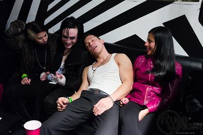 DNA Lounge, San Francisco. Backstage Limnus&Sorrow Church show