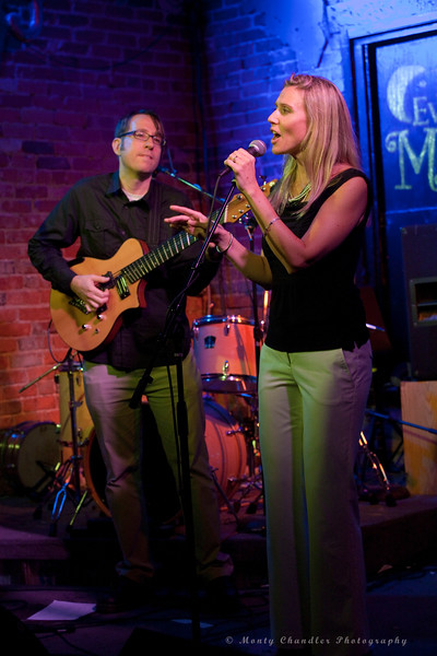 Carrie Marshall & Brad Bailey performing at the August, 2013 Tosco House Party at the Evening Muse in Charlotte, NC