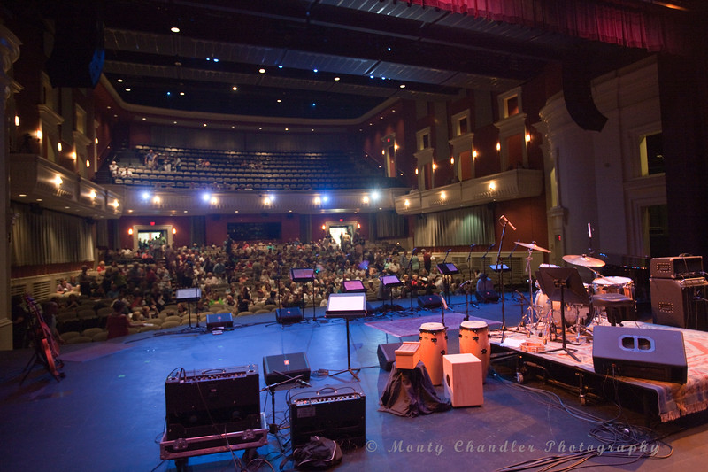 The audience enters the Halton Theater for the Tosco Music Party in Charlotte, NC on Sept 7th, 2013