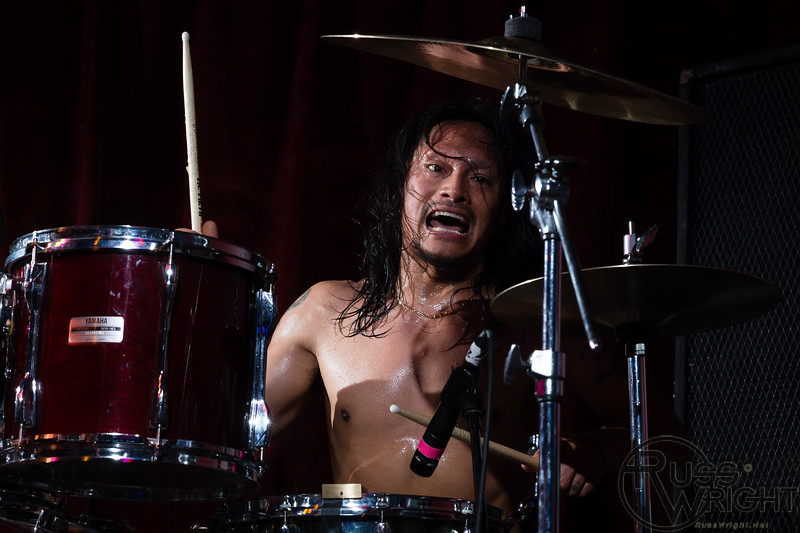 Andy V. Galeon (Drums) of The Nerv @ Thee Parkside, San Francisco, CA. July 2013