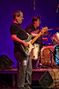 Phil Carias on bass for the TMP House Band performing at the Tosco Music Party in Charlotte, NC at the Knight Theater on September 20th, 2014
