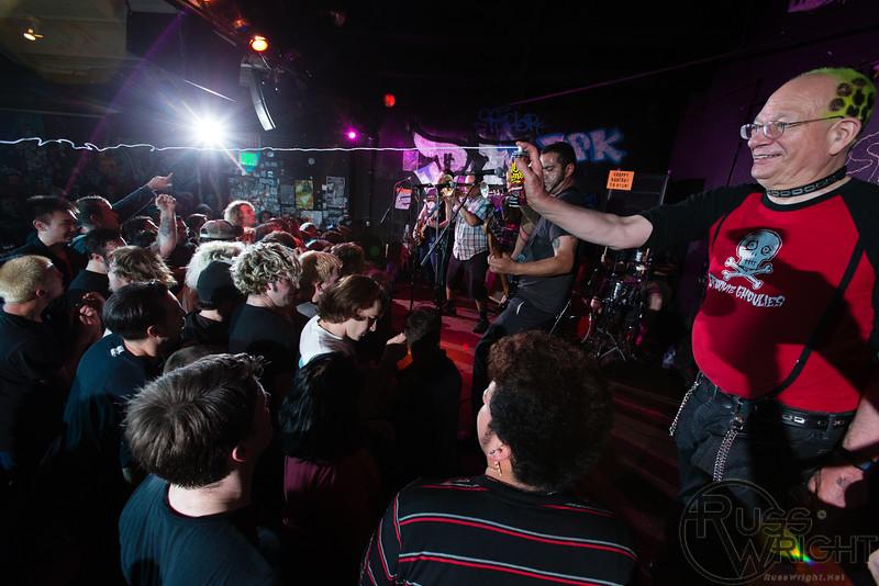 Punk Rock Joel on stage with La Plebe @ 924 Gilman St. Berkeley, CA. February 2015