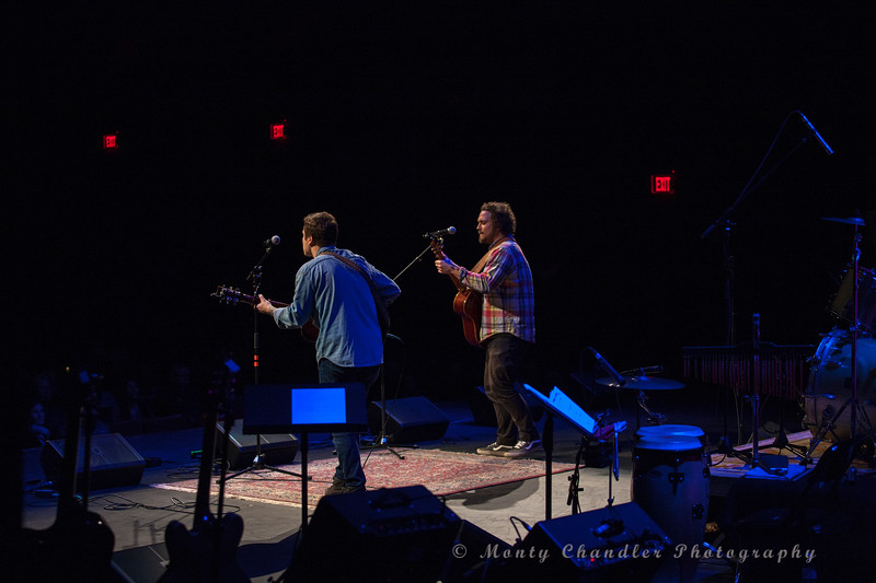 Folk Duo The Dupont Brothers performing at the Tosco Music Party at the Knight Theater Feb 3rd, 2018 in Charlotte, NC.