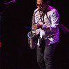 Saxophonist Adrian Crutchfield performing during the Tosco Music Party Feb 3rd, 2018 at the Knight Theater in Charlotte, NC