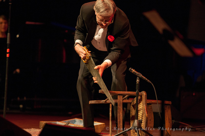 Rick Ramseur playing the SAW during the Tosco Music Party Feb 3rd, 2018 at the Knight Theater in Charlotte, NC