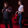 John and Gianna - CD gift bag raffle during the Tosco Music Party Feb 3rd, 2018 at the Knight Theater in Charlotte, NC