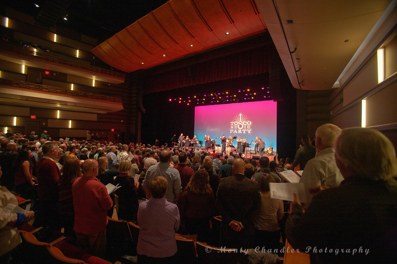 John Tosco & the TMP singalong choir performing at the Tosco Music Party held February 2nd 2019 at the Knight Theater in Charlotte, NC