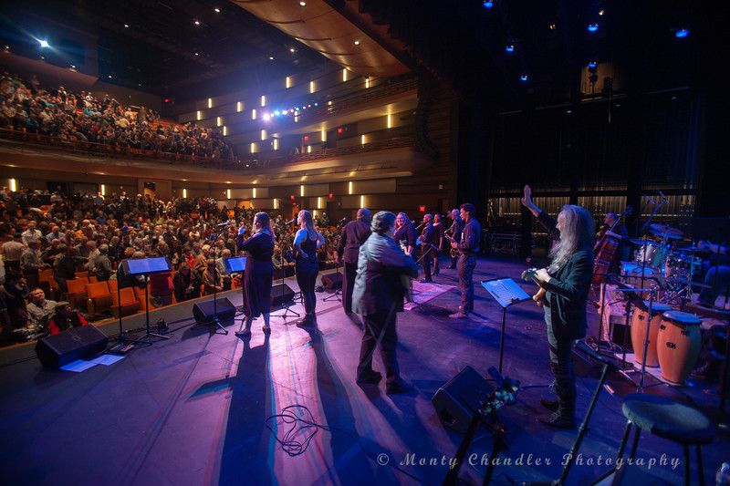 John Tosco  the TMP choir open the Tosco Music Party held February 2nd 2019 at the Knight Theater in Charlotte, NC