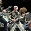 Jon Donais, Scott Ian, and Frank Bello