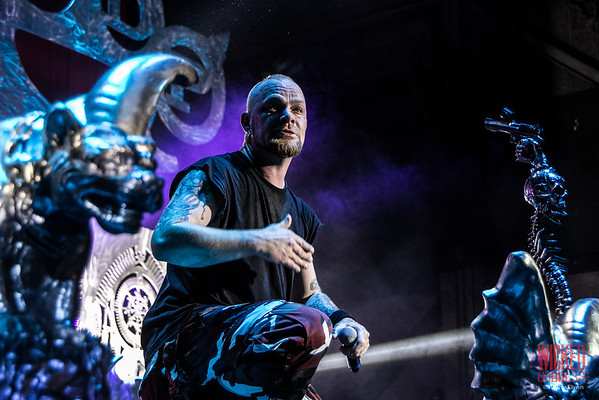 Five Finger Death Punch on the Main Stage at Mayhem Festival 2013 - June 29, 2013