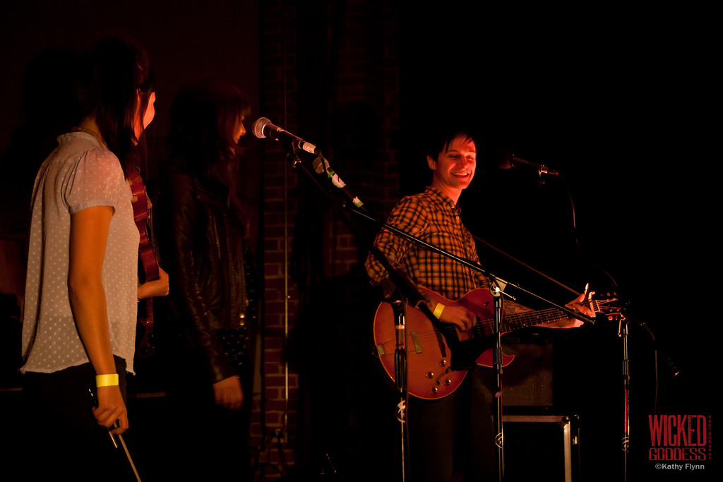 """Jarrod Gorbel joined on stage by guest vocalist Madi Diaz for """"MIserable Without You"""" at the Bootleg Bar - 2/03/12"""