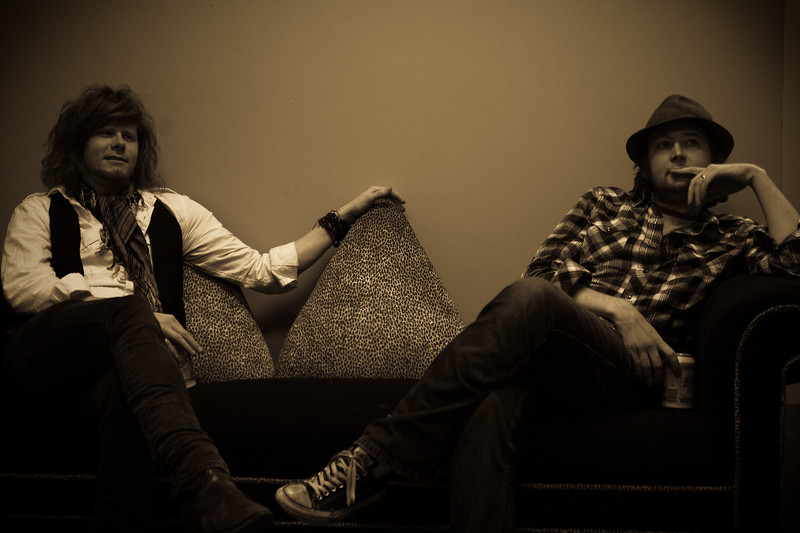 """Chip and Eric of The Alternate Routes backstage and Warehouse Live - Houston, TX<br />  <a href=""""http://www.thealternateroutes.com"""">http://www.thealternateroutes.com</a>"""