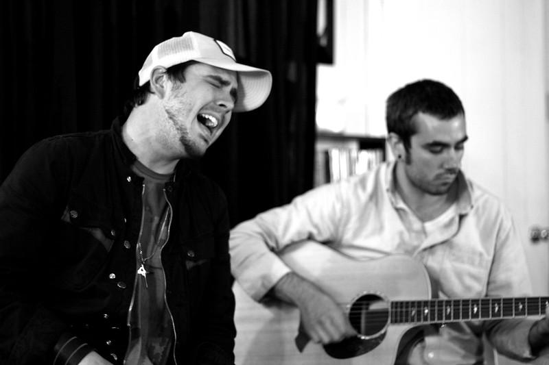 Josh Hoge and Jordon performing in my living room