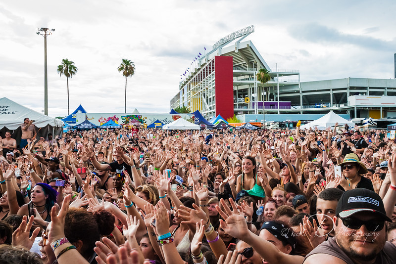 Crowd shot from Warped Tour at Tinker Field in Orlando, FL. 2016