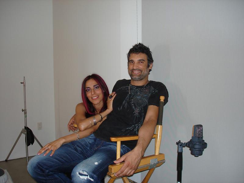 "Marcus Nand & Ana Sidel day two Video shooting 'La Wanga"""