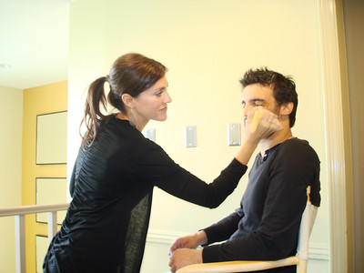 Marcus getting ready for photo shoot
