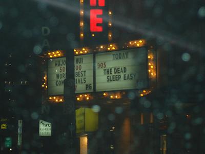 """The marquee """"The Dead Sleep Easy"""""""