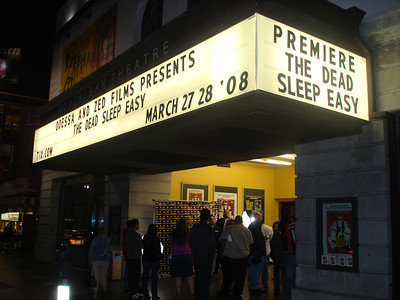 "Marquee ""The Dead Sleep Easy"""