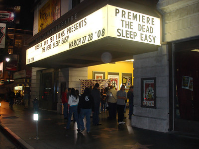 "Marquee "" The Dead Sleep Easy"" Premier March 27 & 28"
