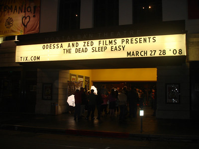 Marquee outside