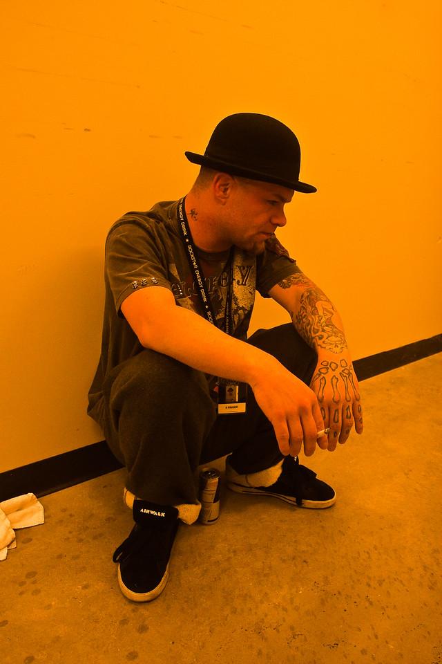 Ivan Moody of Five Finger Death Punch - Backstage 2010