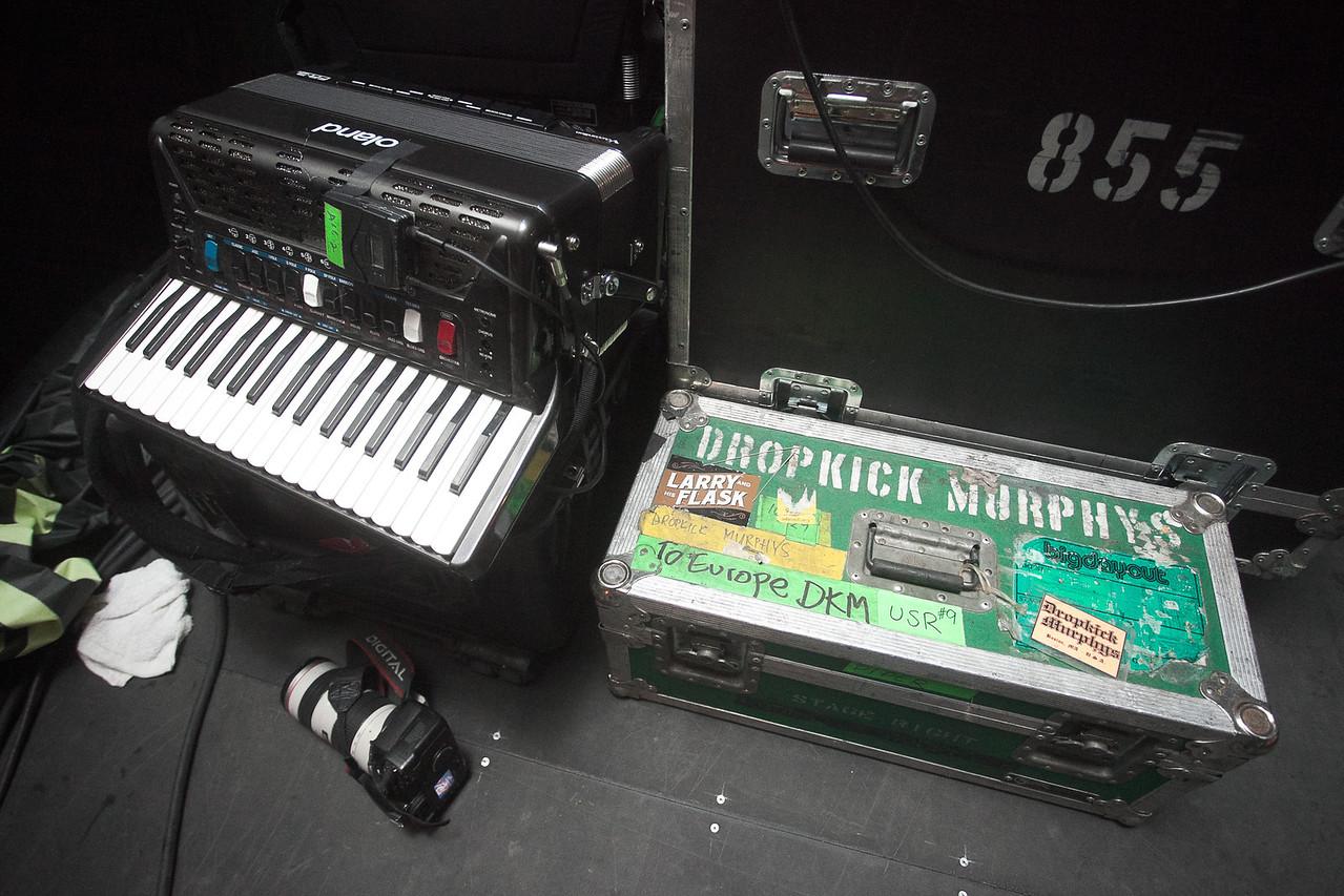 Dropkick Murphys Accordian Backstage - 2009