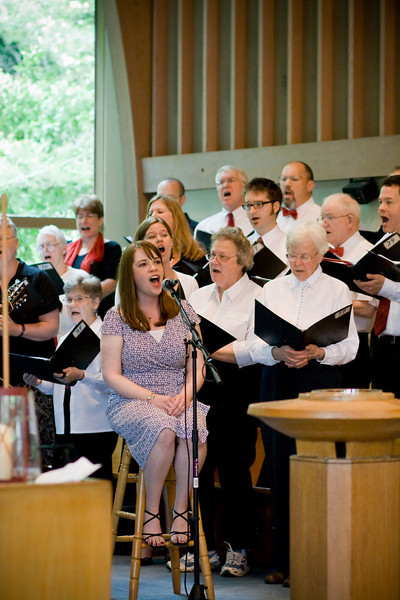 """""""Come to Jesus"""" performance - June 1, 2008<br> Sarah Ackers (Lead Vocals), Fauntleroy Chancel Choir (Backup Vocals)"""