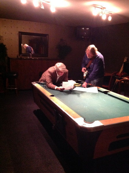 Mark Gorman strategizing with Ray Davis