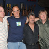 (L to R) Guest with Gerry Sorrentino, Mario Stiano & Kim Simmonds
