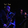 """Jimmy """"B"""" Biggins (tenor sax,) Scott Aruda (trumpet,)"""