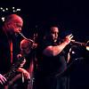 """Jimmy """"B"""" Biggins (tenor sax,) Scott Aruda (trumpet,) Lou Bocciarelli (upright bass)"""