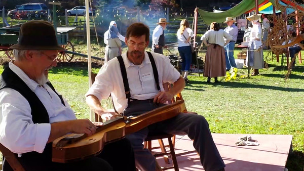 Mountain Dulcimer players at Quiet Valley Farm's Harvest Festival